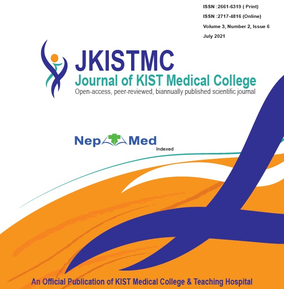 View Vol. 3 No. 2 (2021): journal of KIST Medical College